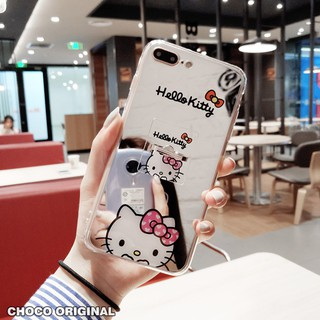 1ad734fe9 Mirror iPhone 6 Plus Case hello kitty With Stand Holder iPhone 5 6 6s plus  7 8 X Cute Soft Cover | Shopee Malaysia