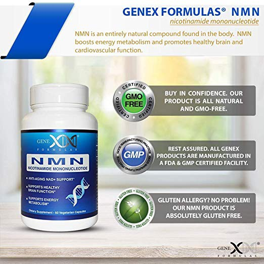 NMN 250mg Serving Anti Aging DNA Repair Healthy Direct NAD