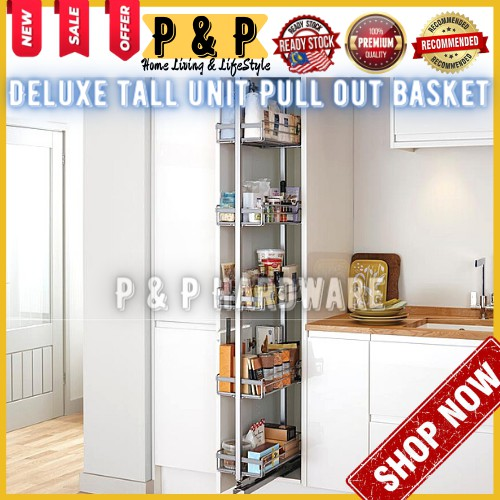 Pull Out Kitchen Cupboard Organizers Round Silver Sliding Pantry Kitchen Corner Cupboard Pull Out Storage Shelves Chrome Shopee Malaysia