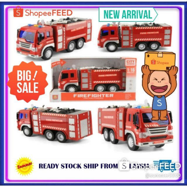 Firefighter Toys Car Action Figure Fire truck toys children 3 years old boys firefighters toy car baby 1/16 Fire Emerge