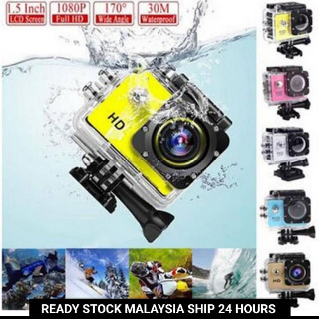 Full HD 1080P WiFi Action Camera Sports Cam Waterproof 30M DV Camcorder  Helmet Cam