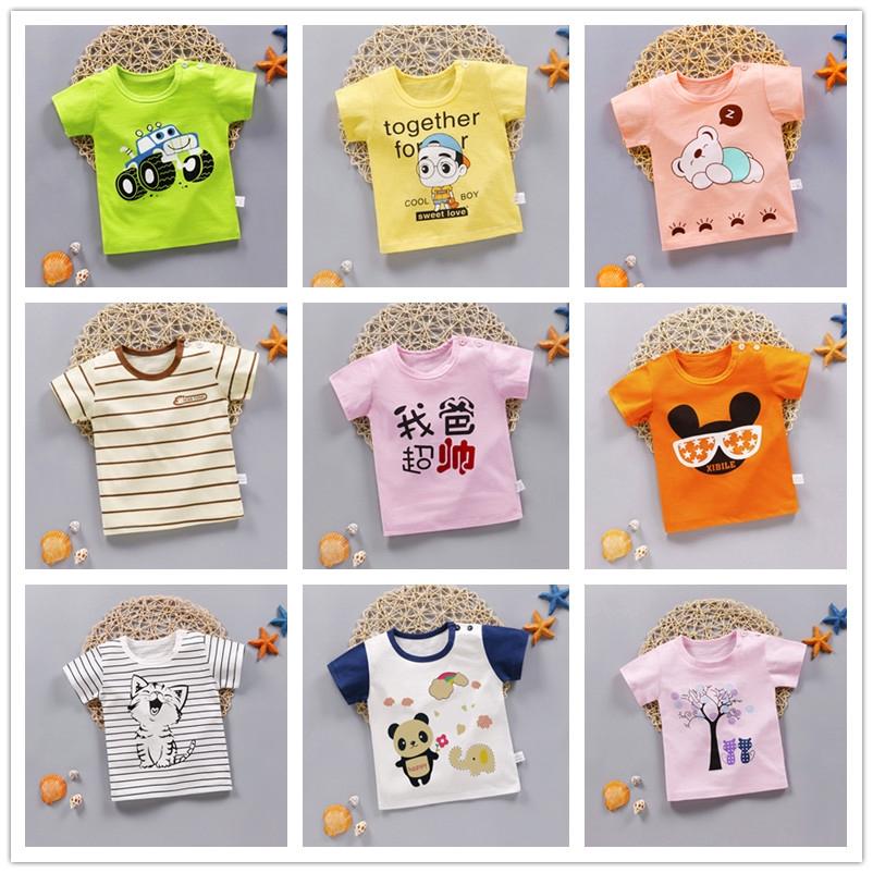 45b2eddc9dbaf 2019 Boy&Girl T-Shirt Short Sleeve Summer Baby Fashion Cute Cartoon Cotton  Tops