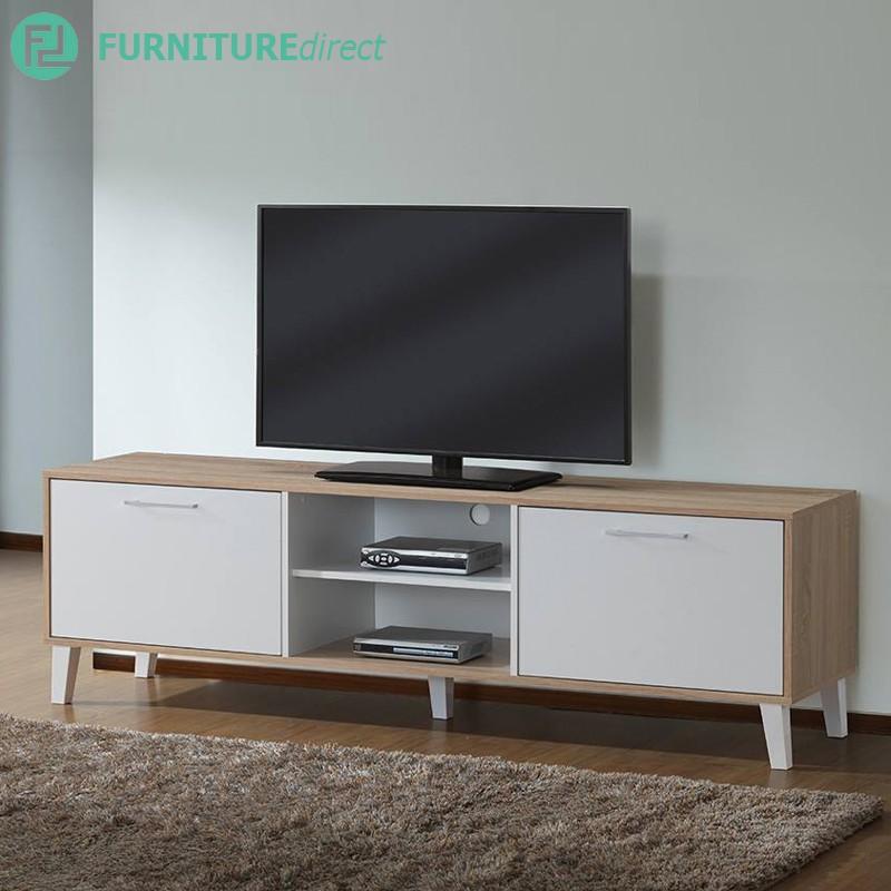 NORMAND 6 Feet TV cabinet/ Rak TV/ 6 FT Rak TV Kayu/ 2 DOOR Rak TV/ tv cabinet wall/ tv cabinet 6ft/ tv cabi