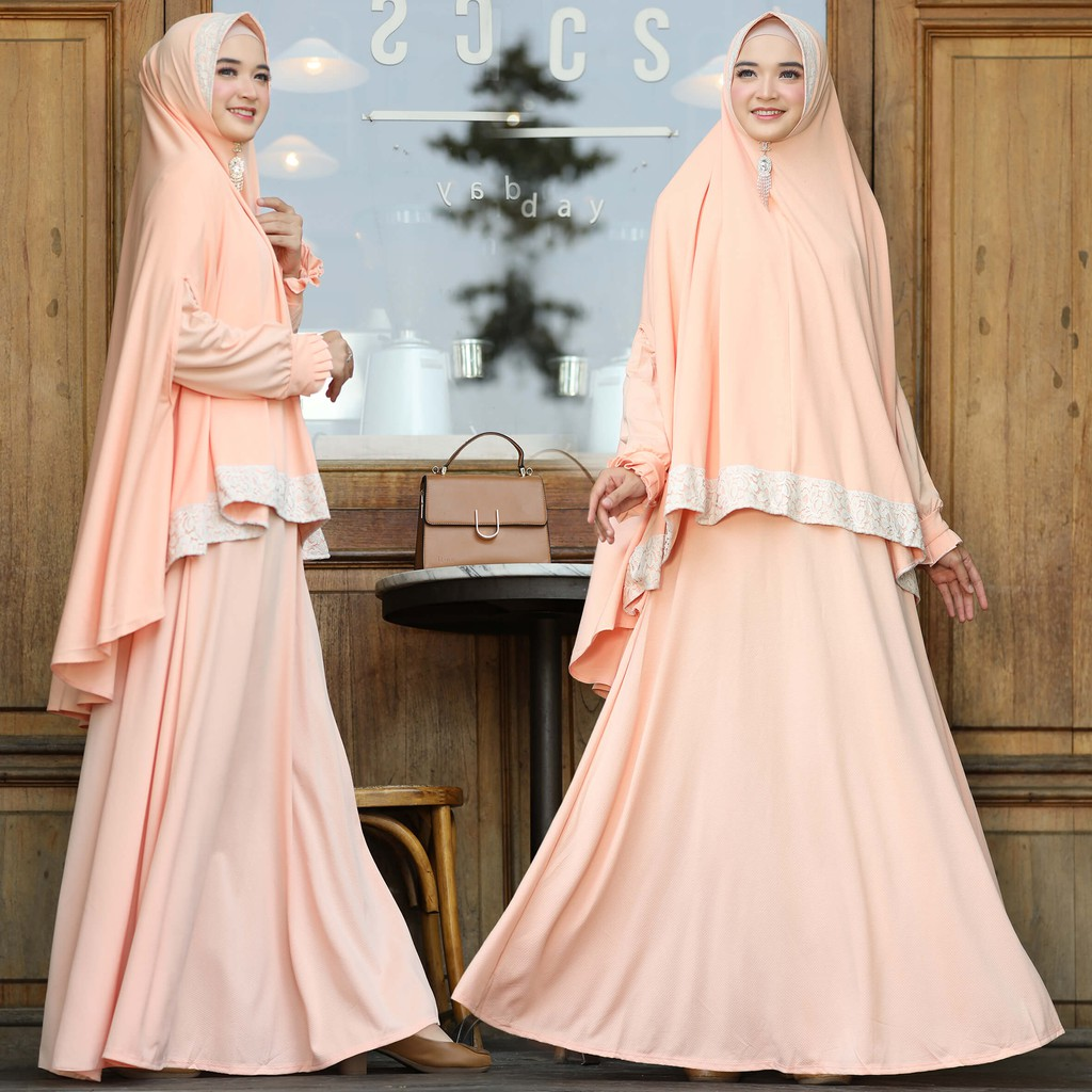 Robe Cindi Syar I Cheap Promo Muslimah Syari Set Latest Shopee Malaysia
