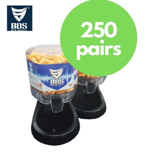 BDS Earplug Dispenser With Base PU Foam Type (250 Pairs)