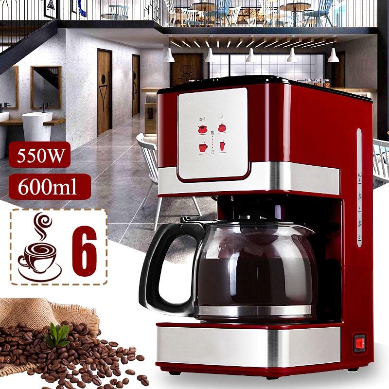 550w 6 Cups 600ml Coffee Tea Machines Household Office American Style Drip Tea Coffee Making Machine Coffee Machine Shopee Malaysia