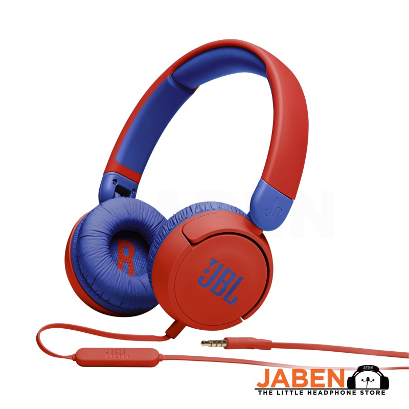 JBL JR310 Safe Listening Kids Online Class Colorful Cute In-line Microphone Wired Closed Back On-Ear Headphones [Jaben]