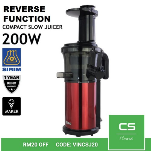 Compact Slow Juicer Slim Model Design with Reverse Function