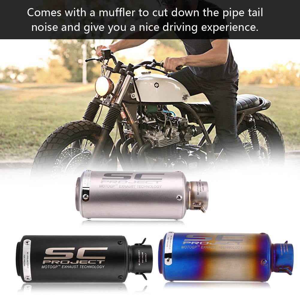 Motorcycle Exhaust Muffler Tailpipe Tail Pipe Tip Stainless Steel
