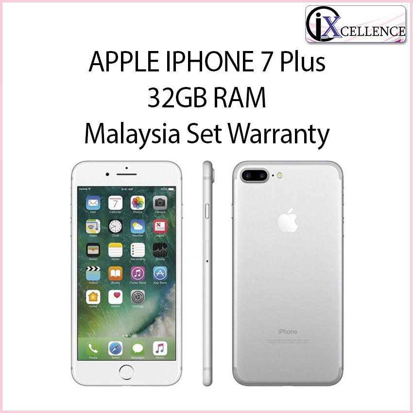 [IX] APPLE Iphone 7 plus 32GB (Silver) - MALAYSIA SET APPLE WARRANTY