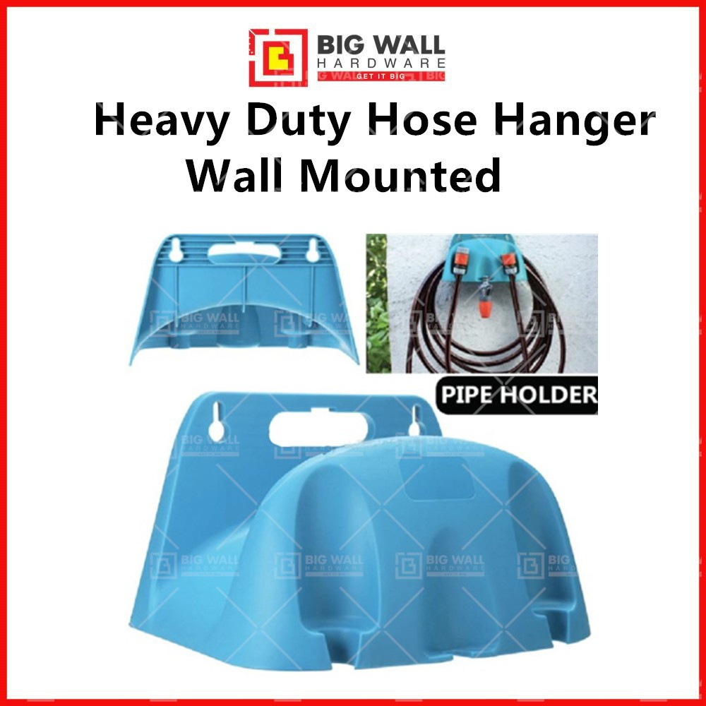 Heavy Duty Hose Hanger Pipes Reel Style Holder Wall Mounted Fence Tap Garden Watering Irrigation Big Wall Hardware