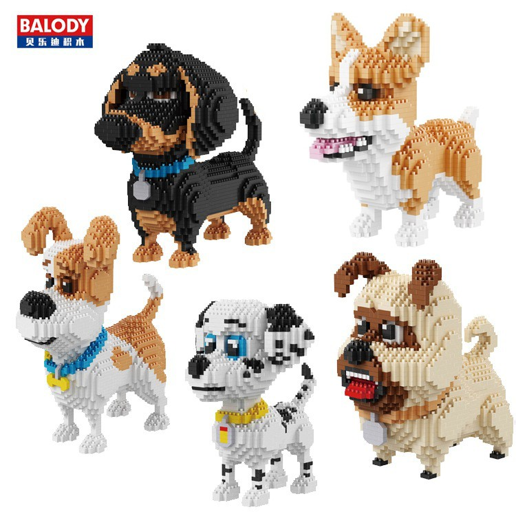 Balody 10-in-1 Pet Dog Dachshund Animal DIY Diamond Mini Building Nano Block Toy