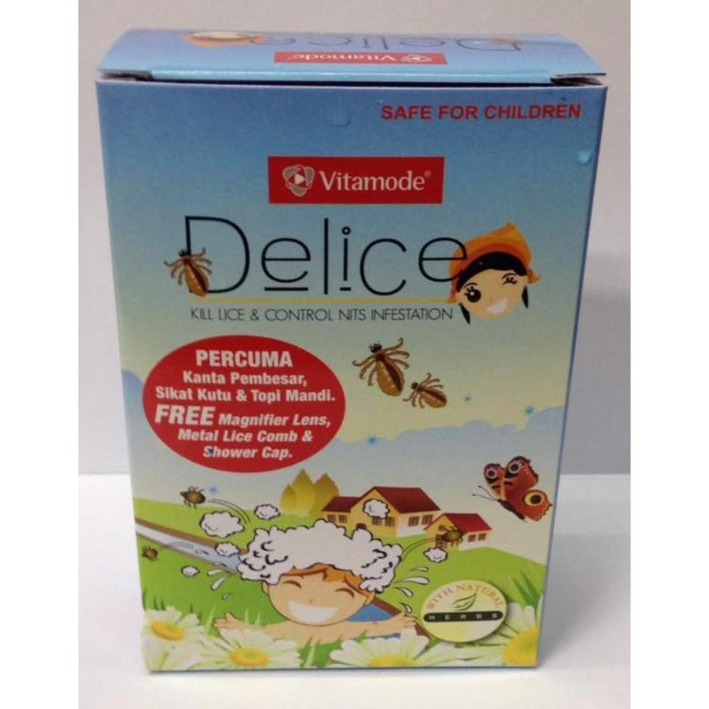 Vitamode Delice Shampoo 40ml Free Lice Comb Shopee Malaysia Shampo Anti Kutu Sampo