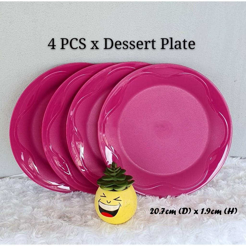 🔥HOT DEAL🔥 Original Tupperware Camellia Collection Dining Serveware Set Purple Pink (Set of 4)