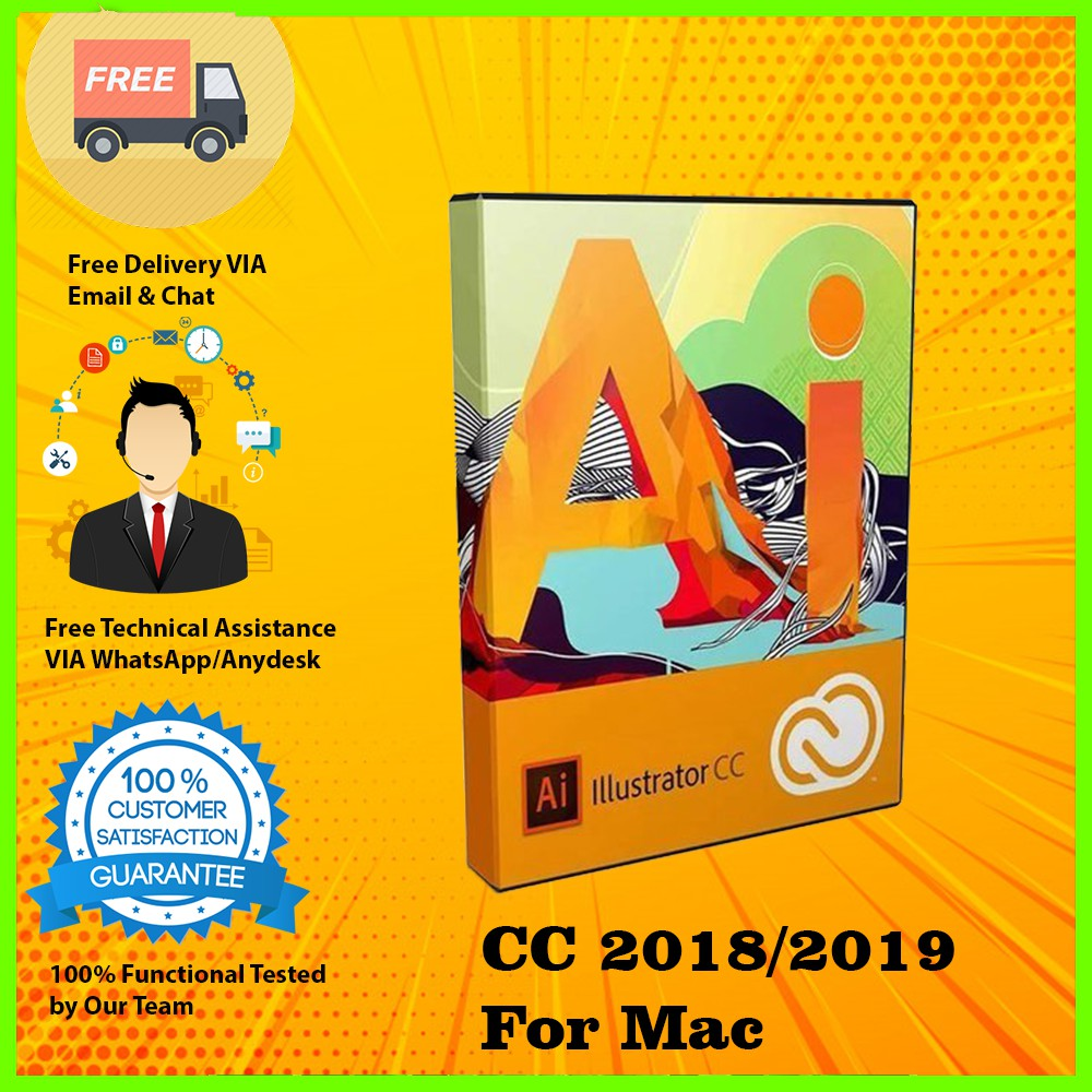 Adobe Illustrator CC 2018/2019 For Mac Full Version