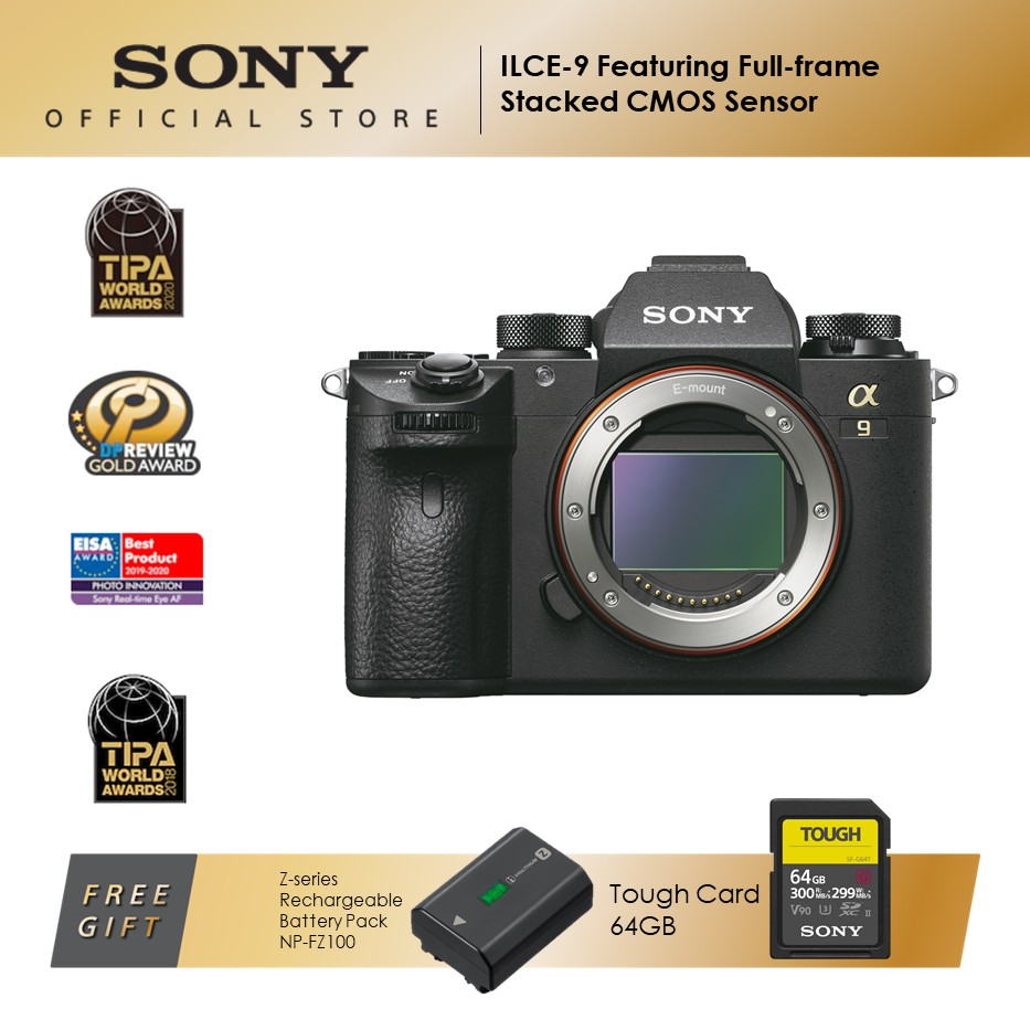 Sony ILCE-9 Alpha a9 featuring full-frame stacked CMOS sensor (Body Only)