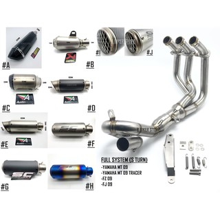 READY STOCK] YAMAHA MT 09 U-TURN EXHAUST HEADER FULL SYSTEM