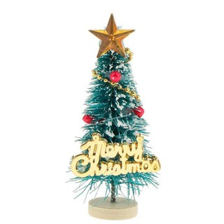 "1: 12 Dollhouse Miniature Christmas Tree ""Merry Christmas"" Letters Board Wooden Stand Decoration 