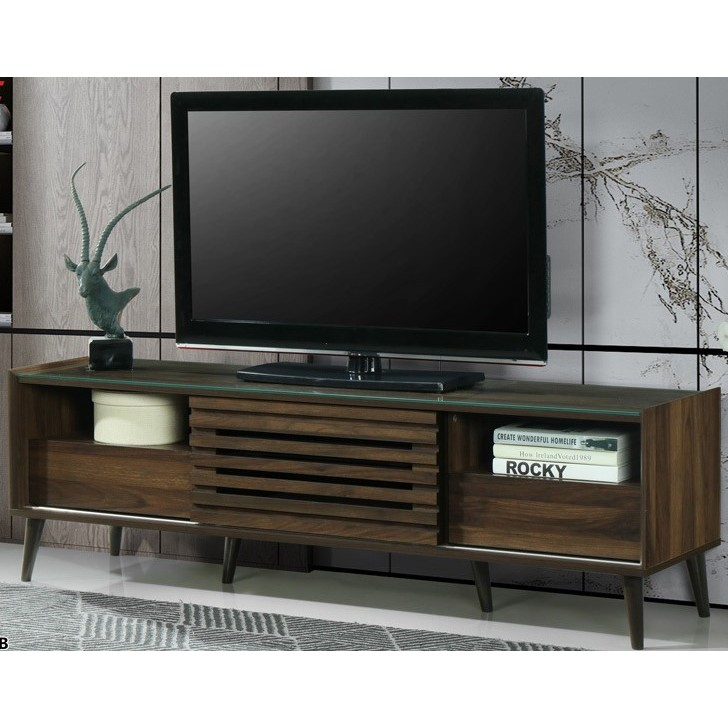 5ft TV CABINET/ HALL CABINET,  PU LAMINATION WITH GLASS TOP, IMPORTED 2021 DESIGNER SERIES