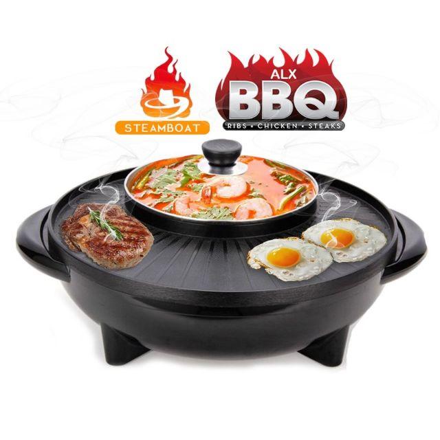 Hot Pot Electric Bbq Grill Steamboat Pan Periuk Eletrik Murah Sho Malaysia