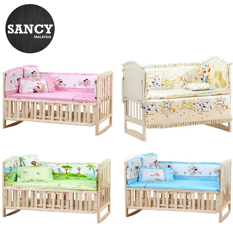 The Best Portable Cotton Crib Fitted Sheet Soft Baby Bed Mattress Cover Protector Cartoon Newborn Bedding For Cot Size 60*110cm Pure White And Translucent Baby Furniture