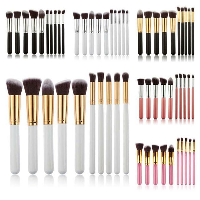 f1ca81403c96 MALAYSIA Ready Stock 10Pcs Multi Function Makeup Kabuki Brush Set BIG SIZE