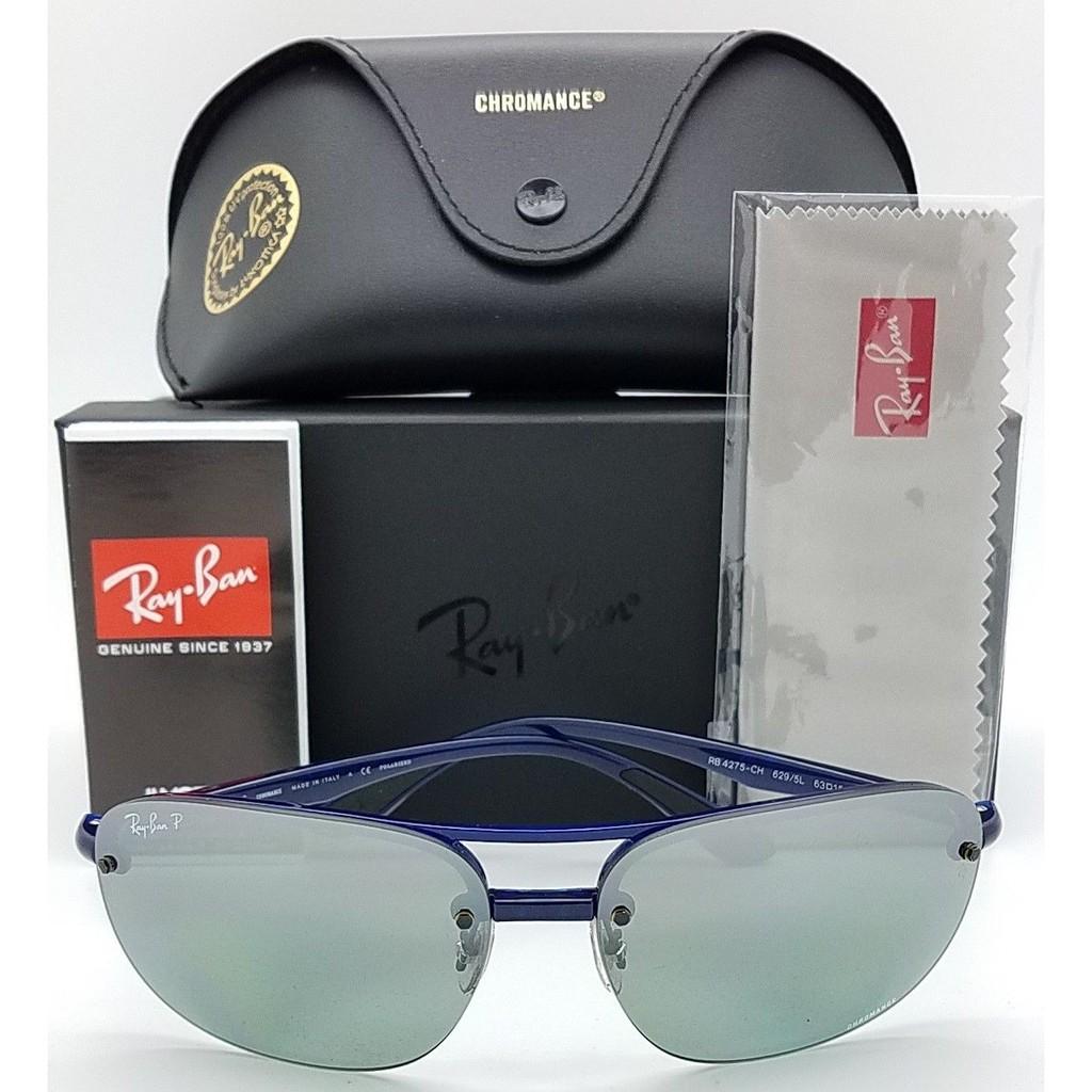 11e2615320 NEW Rayban Sunglasses RB4125 601S17 Cats 5000 Black Blue Mirror 4125  Aviator
