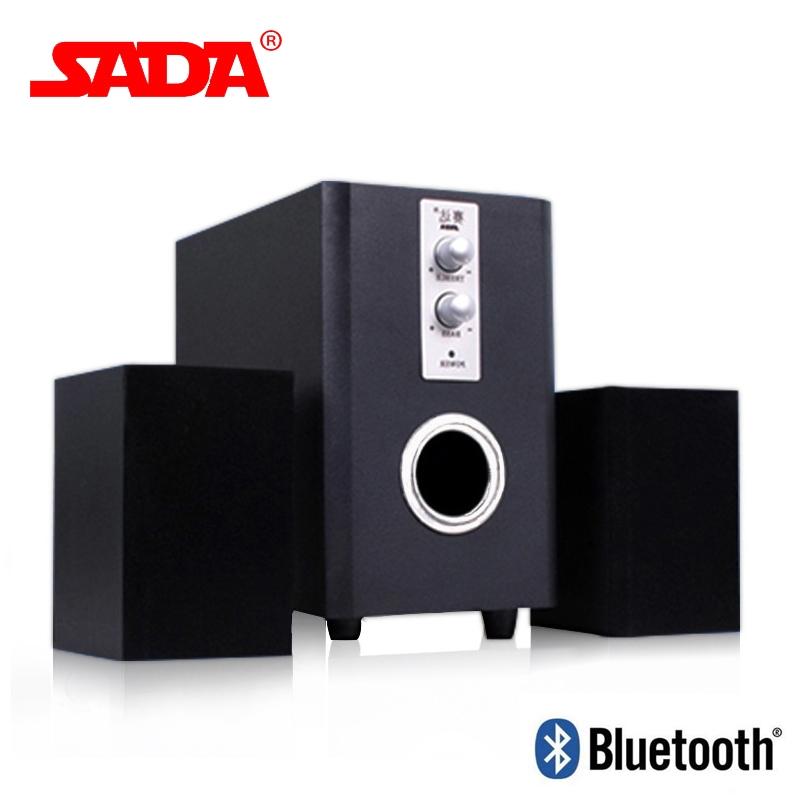 【KiKiMall】SADA Q1 Multi Function Wooden Subwoofer Stereo Bass Bluetooth  Speaker