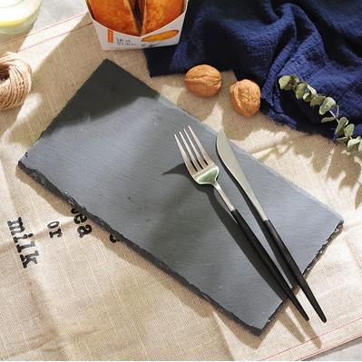 European Hotel Cheese Slate Dinner Plate Rock Board Dinner Plate Food Decor Plate Mat 岩石餐盘碟