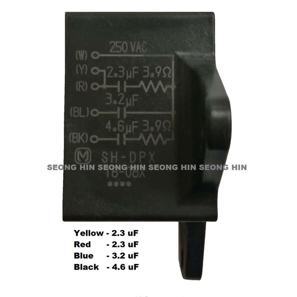 1pc CEILING FAN CAPACITOR CBB61 2uf 4Blade 450V
