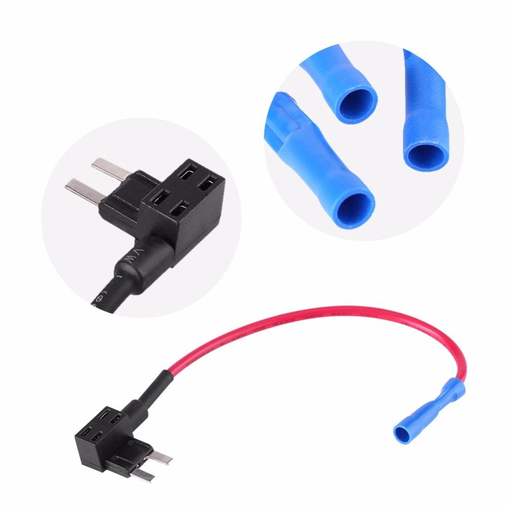 Micro Mini 5Pcs Car Circuit Fuse Tap Adapters Blade Fuses Holder for Easy and Safe Use