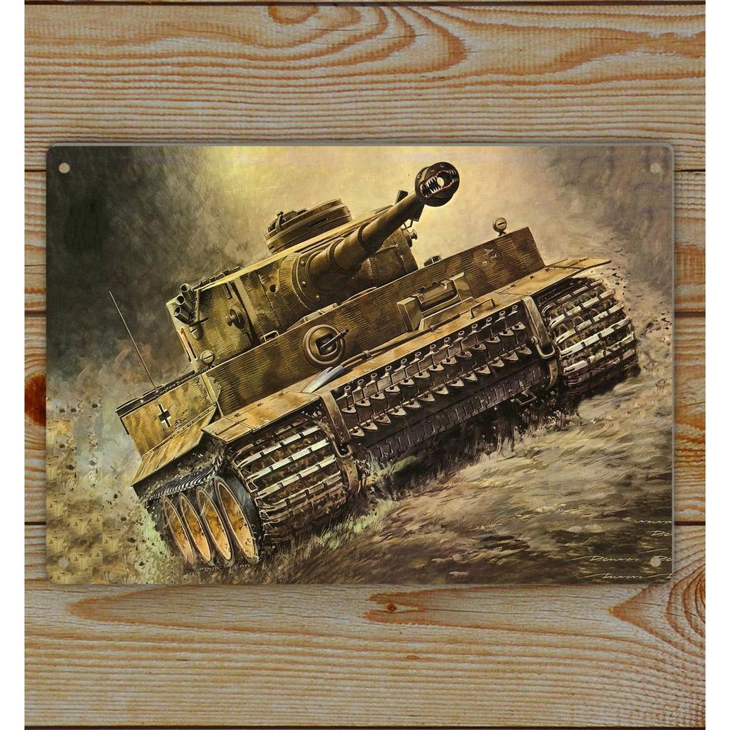 WW2 German Tiger Tank TVI Tank Art Tin Sign TP-0731