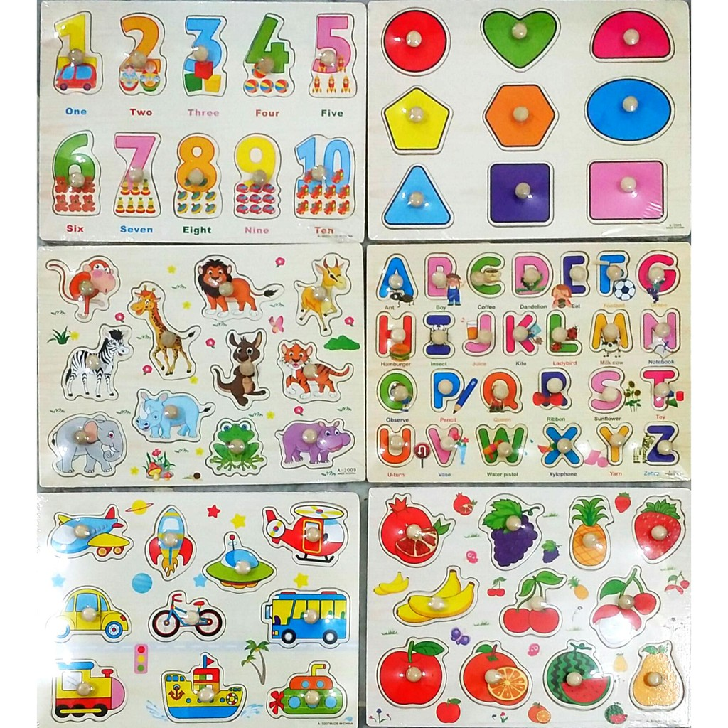 (Set of 6) Children Learning Board