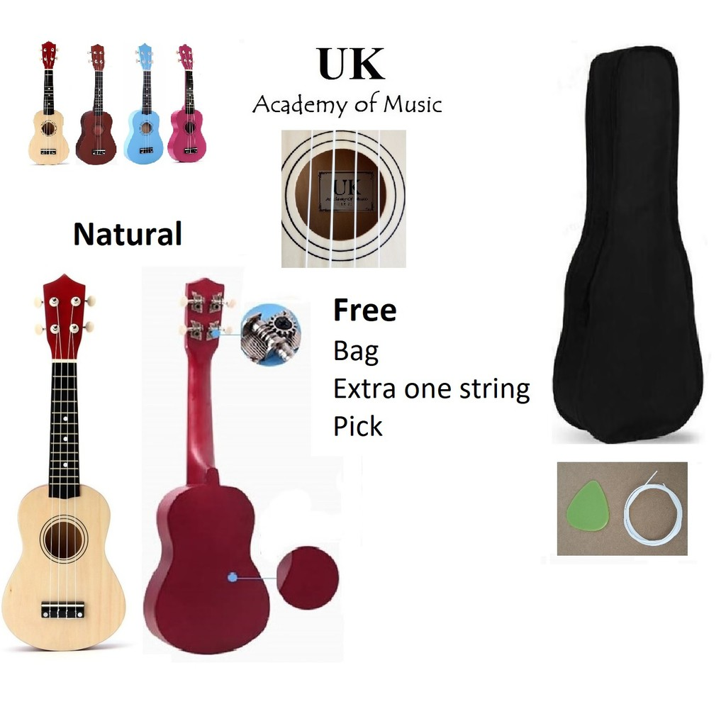 Imported From Abroad Ammoon 24 Ukulele Ukelele Uke Acoustic Wooden Soprano 18 Frets 4 Strings Okoume Neck Rosewood Fingerboard String Instrument Buy One Get One Free Musical Instruments Ukulele