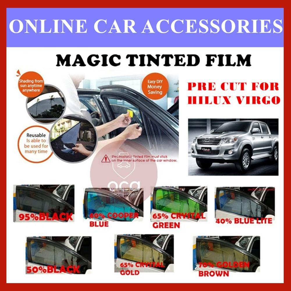 Toyota Hilux Virgo  - Pre-Cut Shape Magic Tinted Solar Tinted (4 Windows & 2 Triangle /4 Windows+Rear)