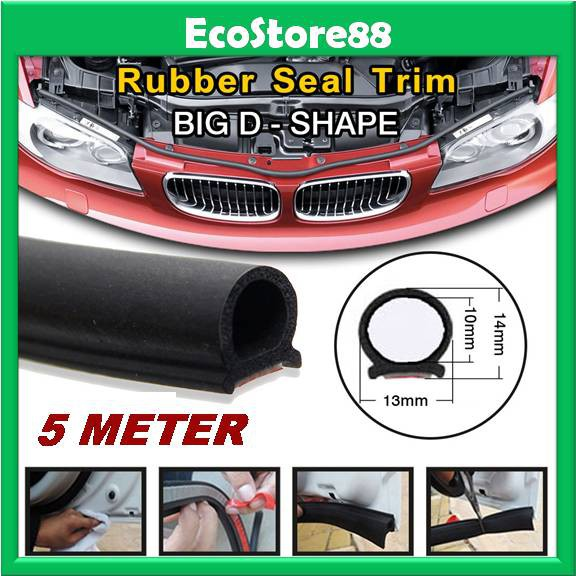 b653f4d9bfdd1 Car Silence Rubber Seal Strip B Shape (5 Meter) Weatherstrip Noise  Soundproof
