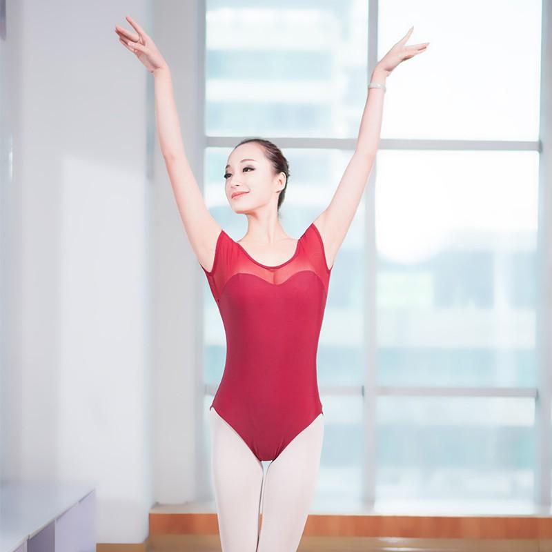 a0f4b2211be2 Girls Adult Ballet Leotard Black Long Sleeve Cotton Ballet Dancewear  Bodysuit