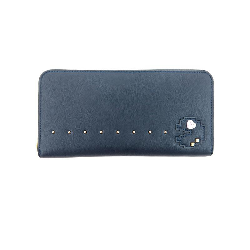 Carlo Rino Pac Man Zip-around Wallet - Dark Blue