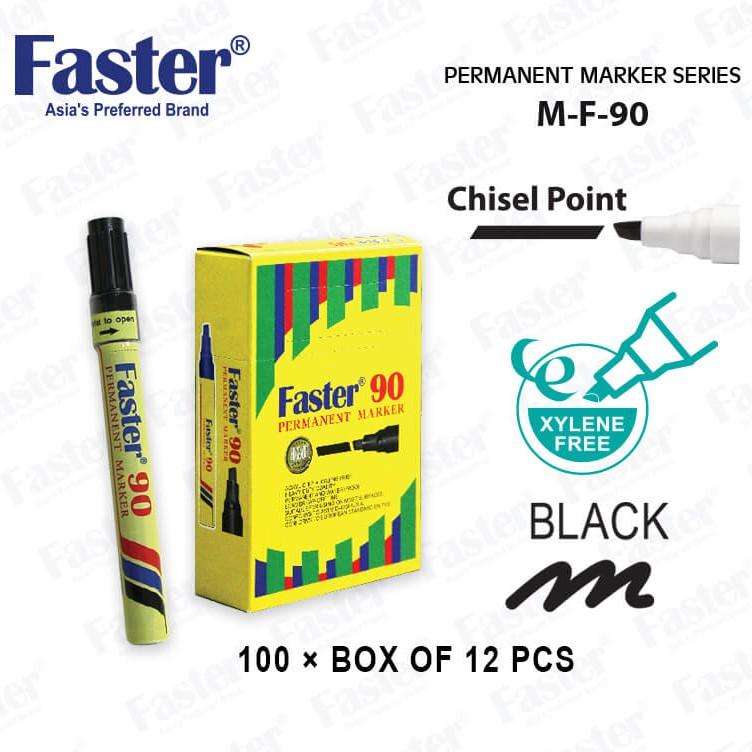 Faster 70 Permanent Marker (Bullet Nib) Faster 90 Permanent Marker (Chisel Nib)