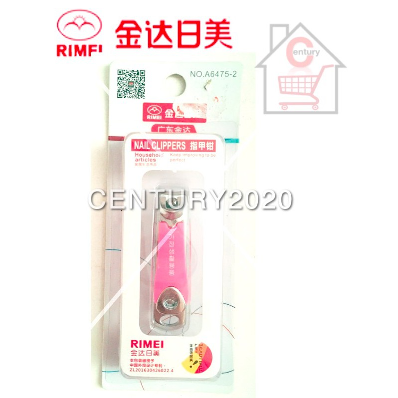 RIMEI Nail Clipper Manicure Care Nail Cutter High Grade Stainless Steel Nail Cutter A6475-2