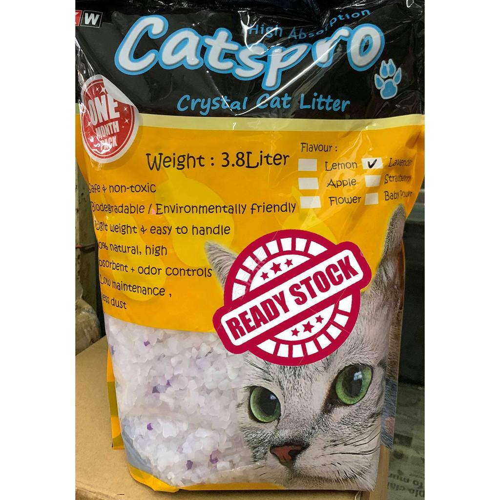 Ready Stock Catspro Crystal Cat Litter 3 8l Pasir Kucing Kristal Shopee Malaysia