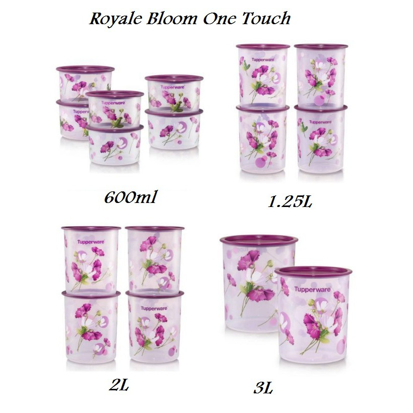 Tupperware One Touch Royale Bloom/ Window/ Garden Blooms/ Camellia - 600ml / 950ml / 1.25L / 2L / 3L/ 4.3L