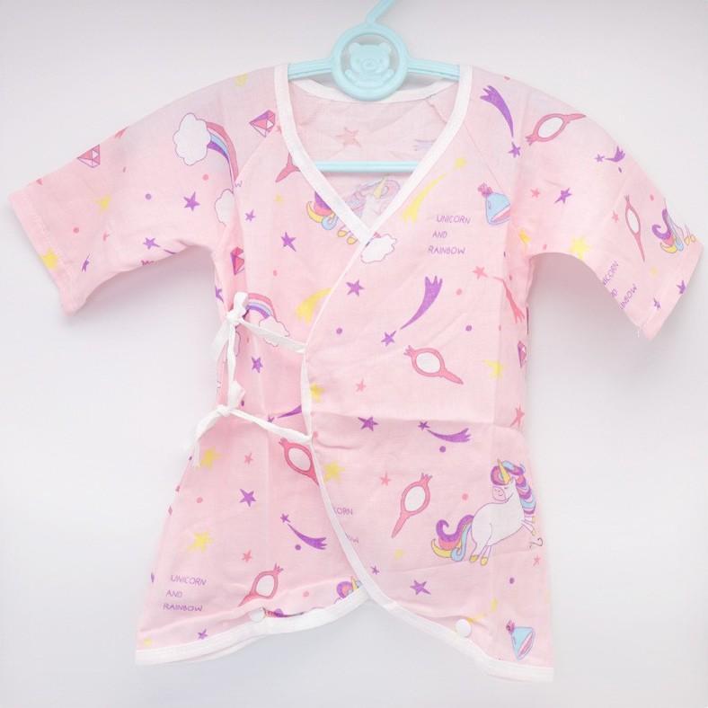 Unicorn Infant Baby Shirt Cotton Gauze Double-Layer Gauze Newborn One-Piece Romper I LOVE MOM DAD 新婴儿服 0-6 Months BB0012