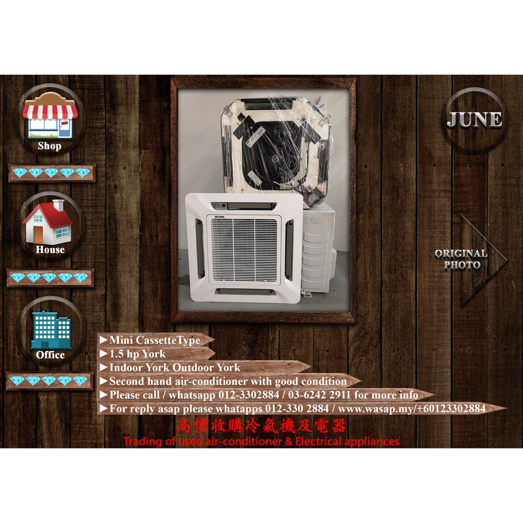 York 1 5hp Mini Cassette Type Aircon