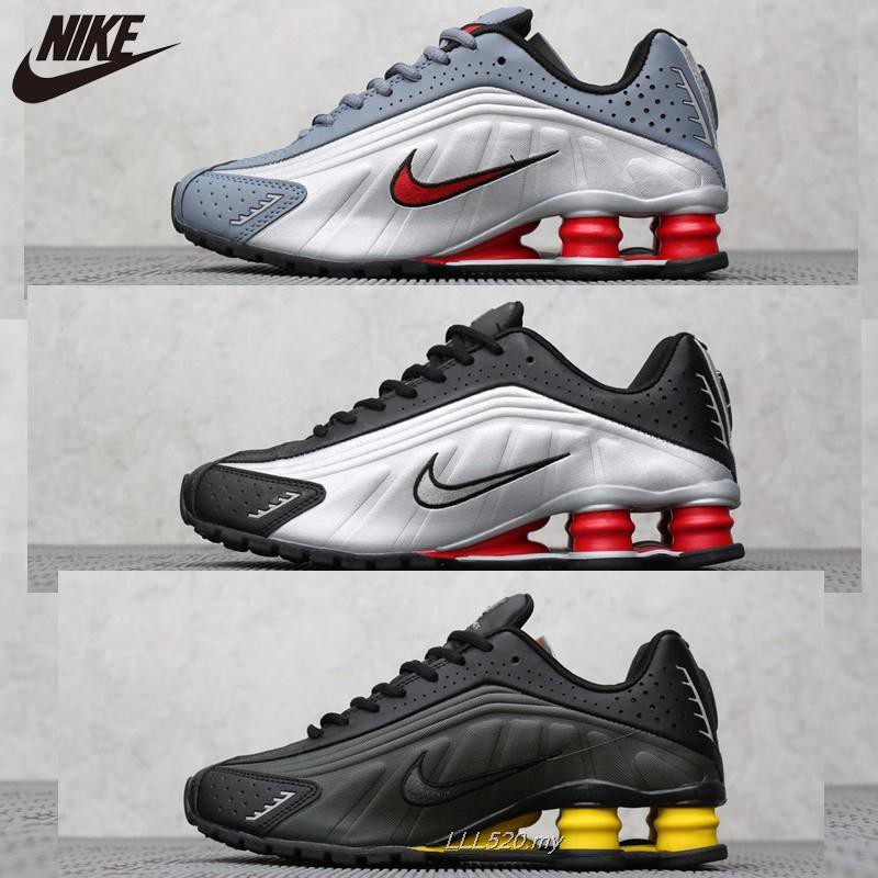 new style fa661 0dffb Nike Shox R4 Men s Sneakers cushioning Reflective air column spring shoes    Shopee Malaysia