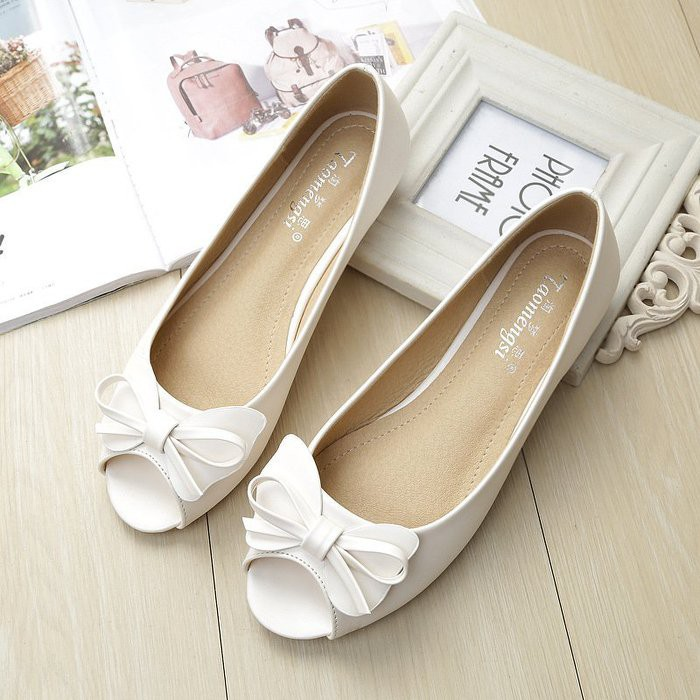 6316d9d751d2 34-43 Korean Edition Water Drill Point Soft Flat Bottom Egg Roll Doll Shoes