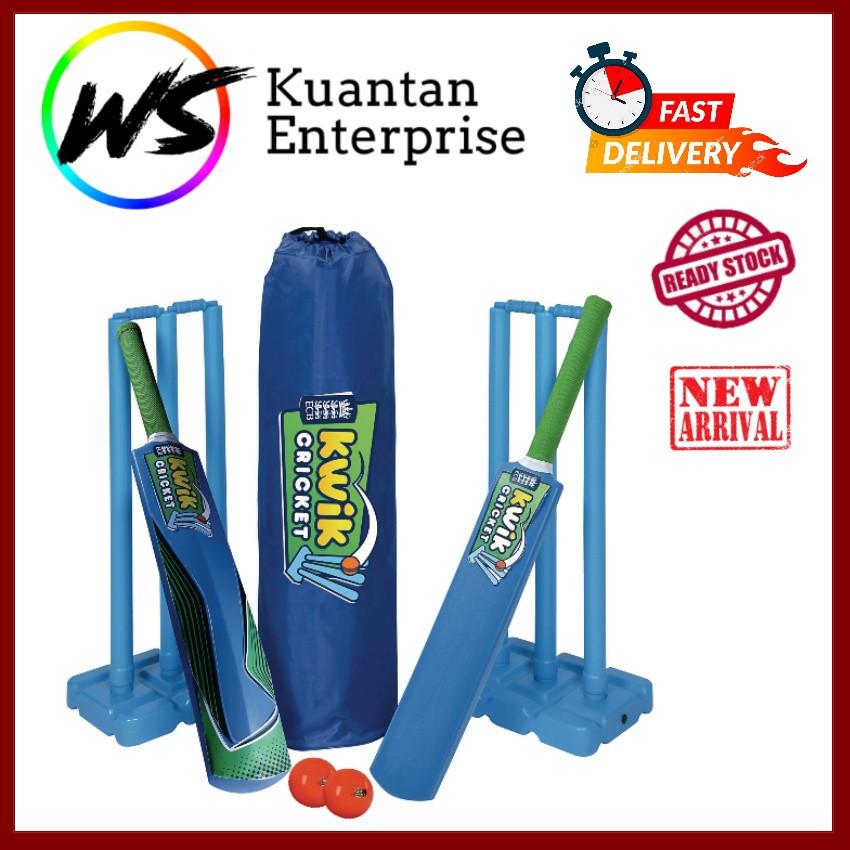【100% Original】Kwik Cricket Double Set   Kriket Double Set (Free Carry Bag)