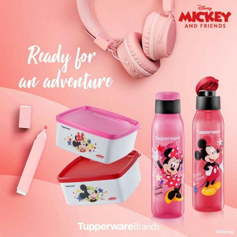 🔥 Tupperware🔥 Mickey & Minnie Eco Bottle