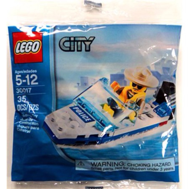 Lego Police Boat Polybag 30017 Shopee Malaysia