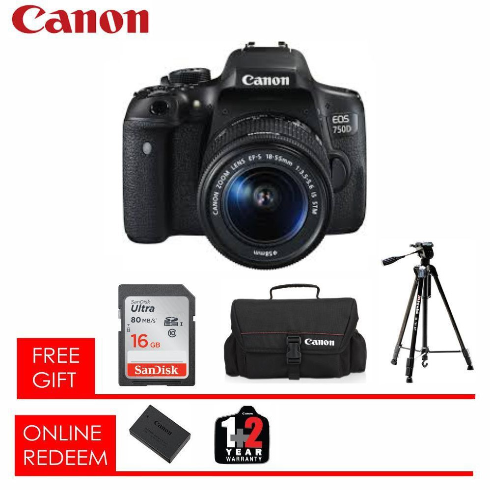 Canon Eos 750d Camera Body Only Shopee Malaysia Dslr